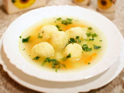 манные клецки для супа рецепт