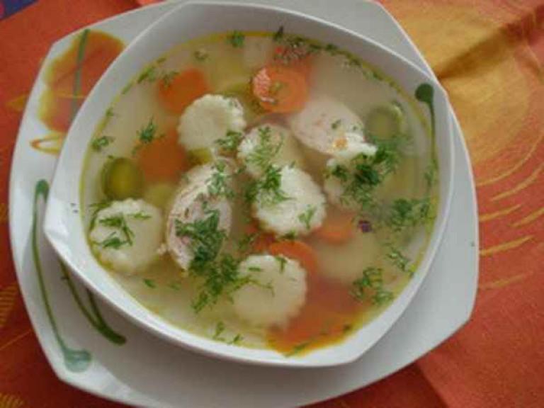 Как делать клецки в суп из манки 3