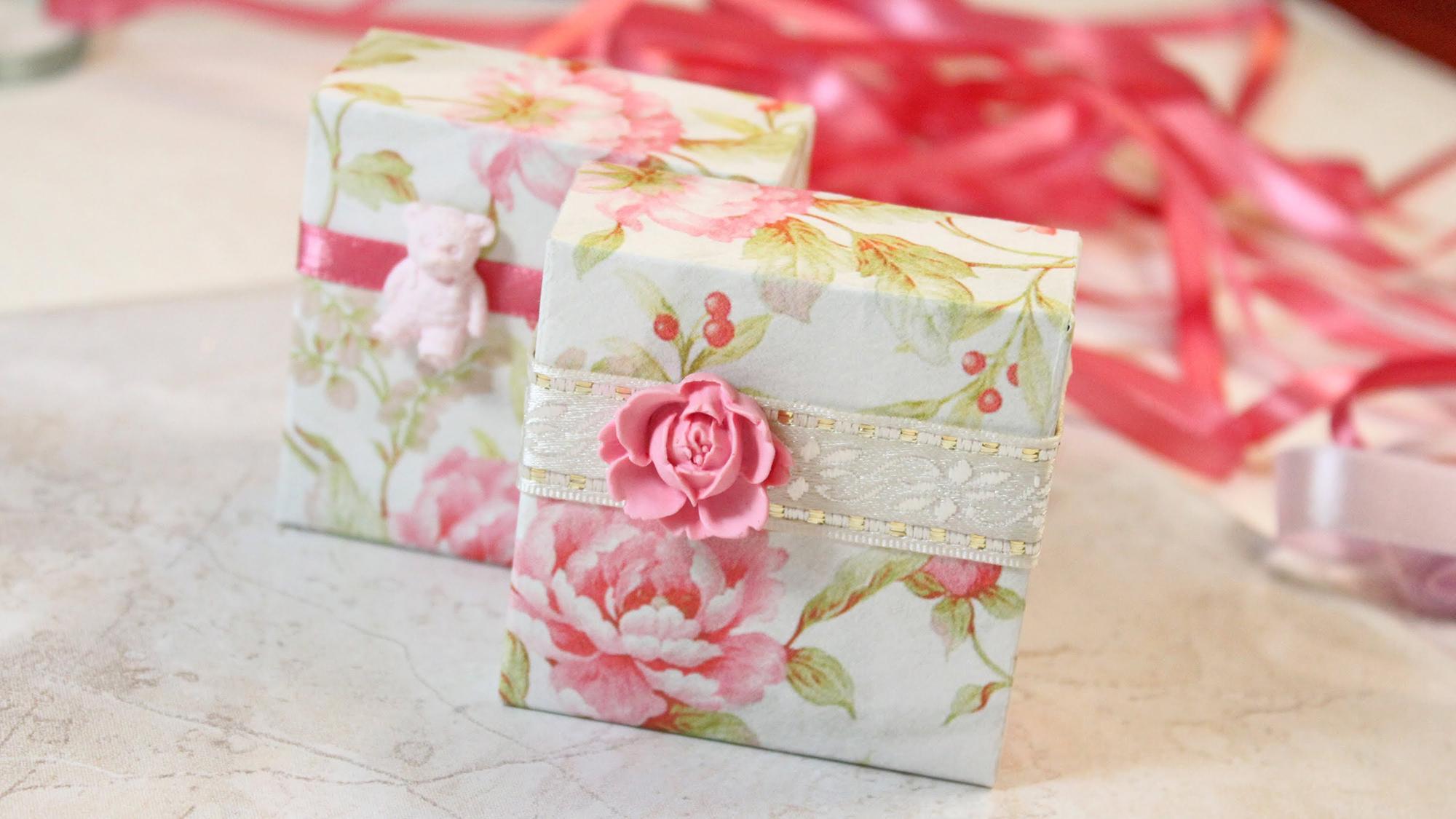 Как красиво украсить коробку своими руками