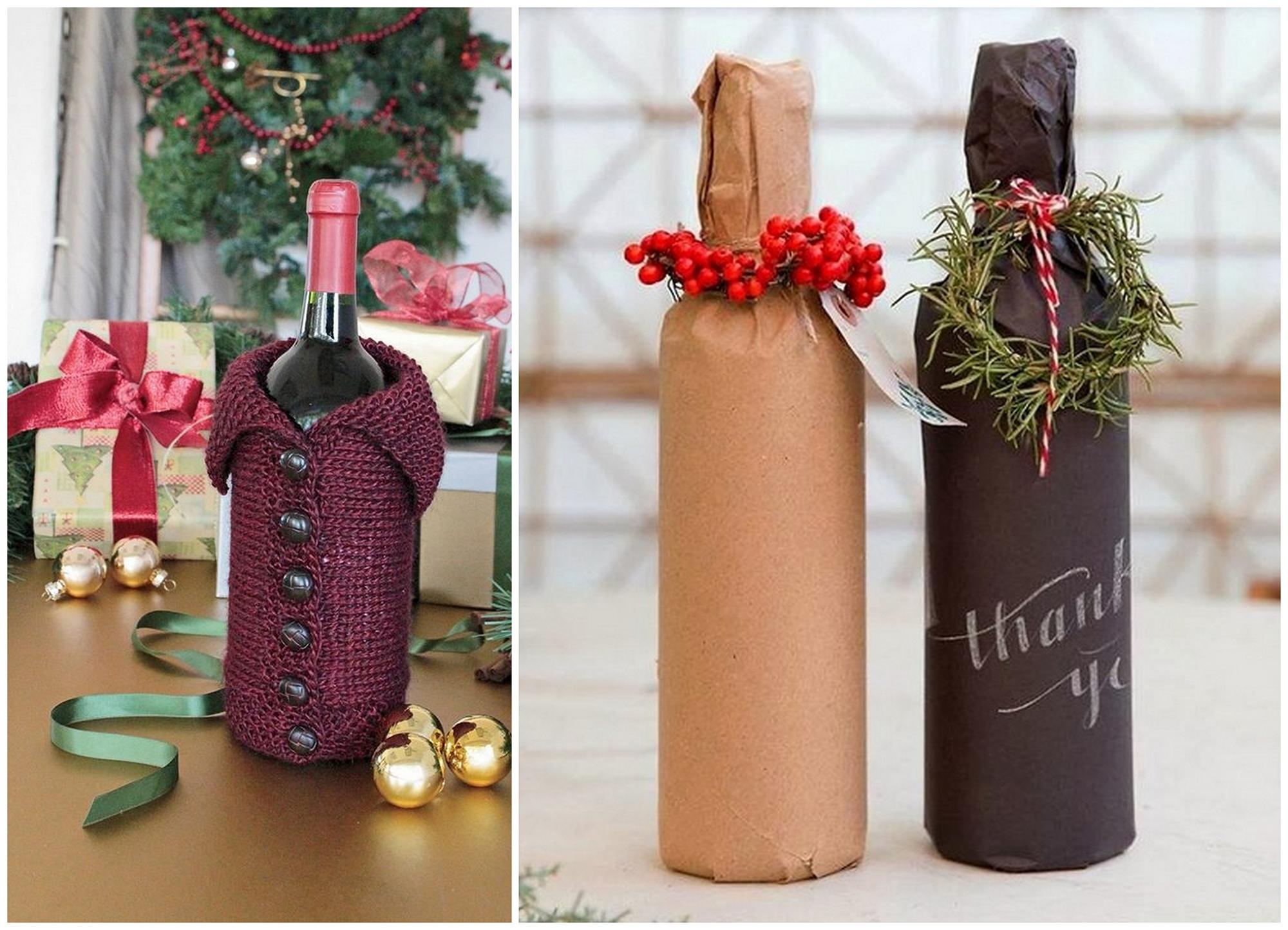 Как оформить бутылку на подарок мужчине