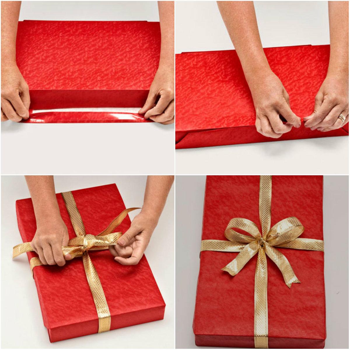 Как красиво упаковать картину как подарок 54