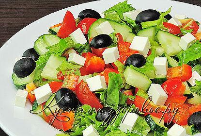 Салат с помидорами и сыром фетакса рецепт пошагово в