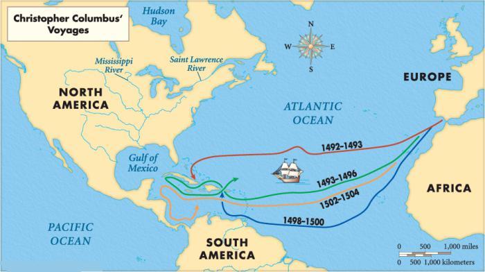 Etwas Neues genug Christopher Columbus Konturkarte. Die Schiffe von Kolumbus: Namen &EF_44