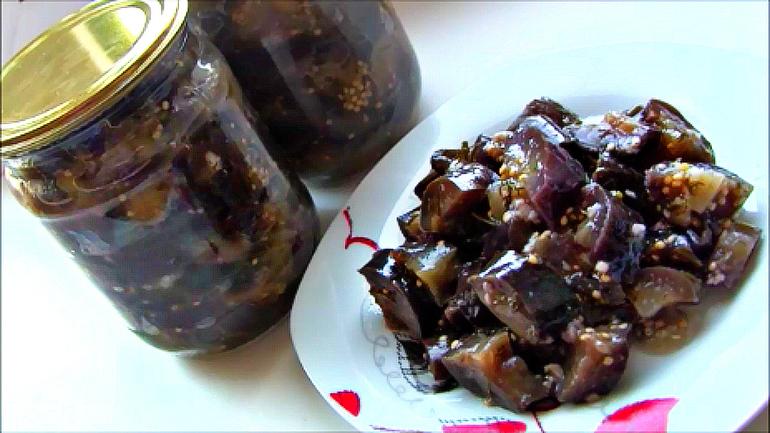 Как быстро и вкусно сделать баклажаны на зиму 753