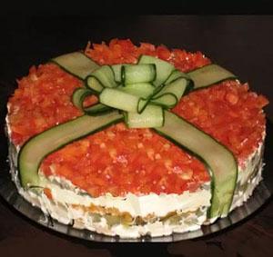 приготовление салатов на день рождения
