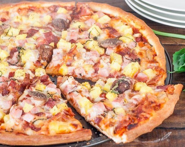 Bir fotoğra ile maya ile pizza testi için bir reçete